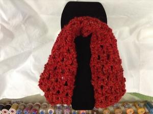 #1088/Scarf/Red Tweed